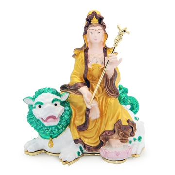 Kuan Yin on Snow Lion