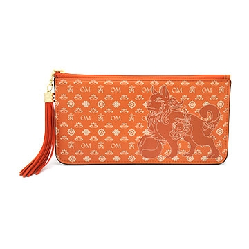 Lucky Fu Dog Wallet (Brown)