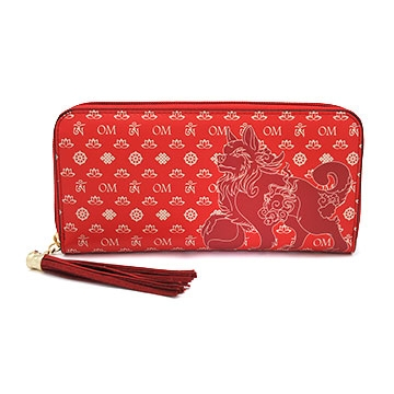 Lucky Fu Dog Purse (Red)