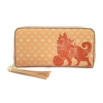 Lucky Fu Dog Purse (Light Brown)