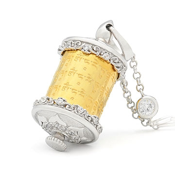 Sun and Moon Mother Tara Prayer Wheel