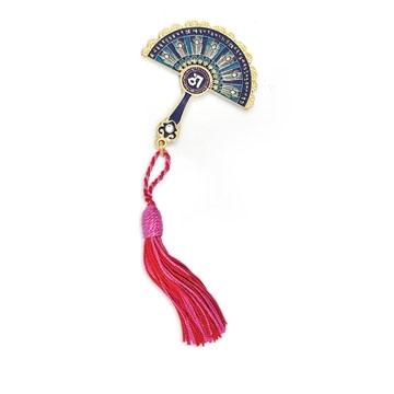 Peacock Feathers Mirror Fan to Protect against Bad Luck & Harmful Energies