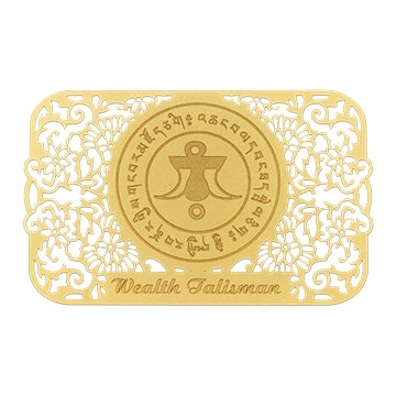 Wealth Talisman Printed on a Card in Gold