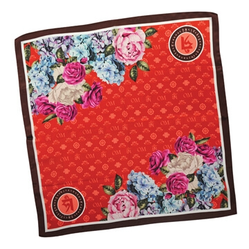 OM Floral Popularity Scarf (Red)