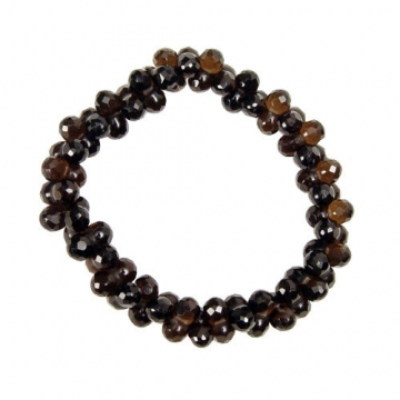 8 Shape Smoky Quartz Bracelet