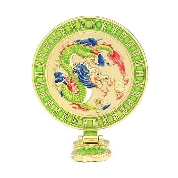 Dragon Mirror with Wish-Granting Mantra