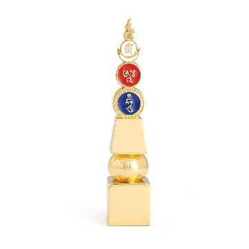 "Five Element Pagoda with ""Om Ah Hum"" (Mini)"