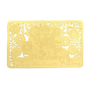 """Increase Your Wealth Luck""  Gold Talisman Card"